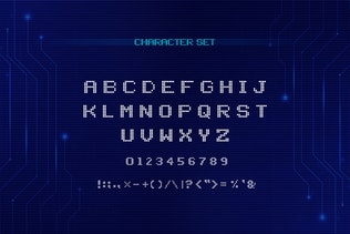 Thumbnail for Cyber - Technology Font