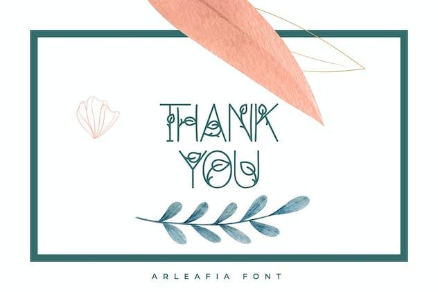 Arleafia | Decorative Font