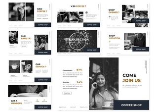 Миниатюра для Кофе - Be | Шаблон Powerpoint