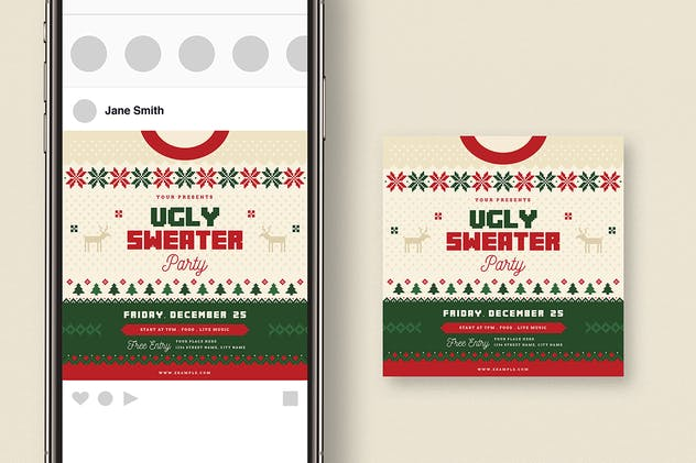 Ugly Sweater Christmas Party + Social Media - product preview 1