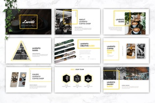 Thumbnail for LAVENTO - Coffee Shop Google Slides Template