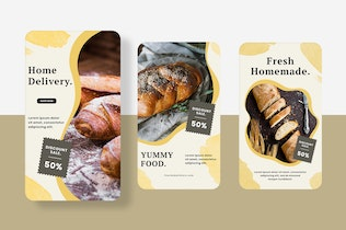 Thumbnail for Form of bread Instagram Stories Template