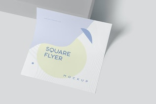 Square Shape Promotional Flyer Mockups