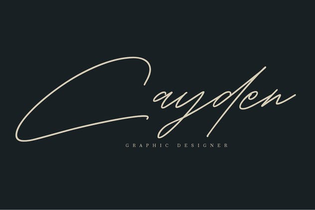 Shaloems Handwritten Signature Font - product preview 6