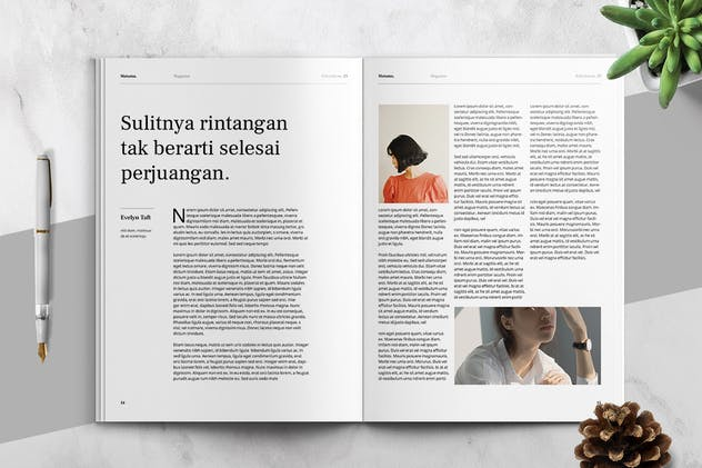 MATAMU - Clean and Minimalist Magazine Template - product preview 6