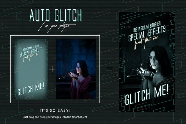 Glitch Instagram Templates - product preview 1