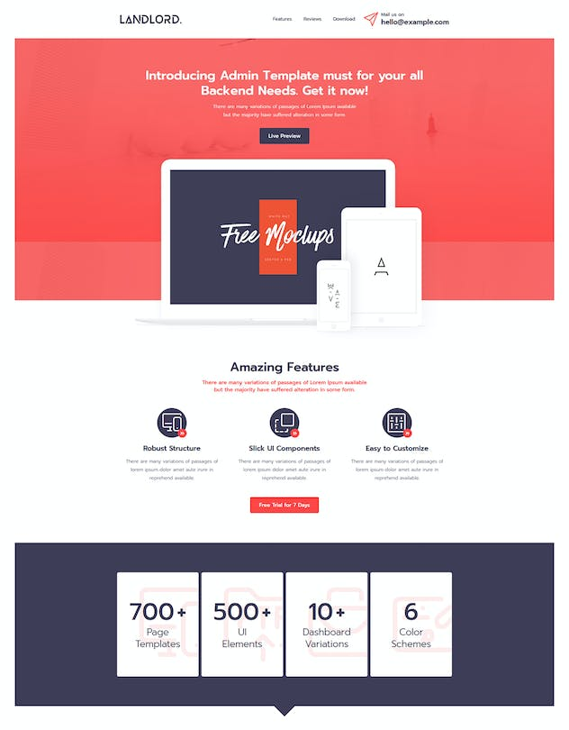 Landlord - Landing Page Templates - product preview 8