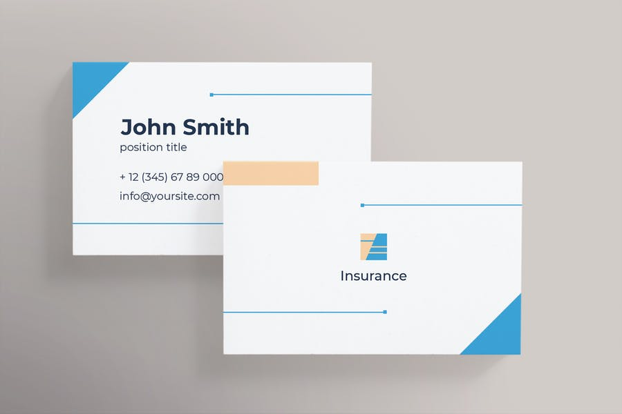 Insurance agency business card template