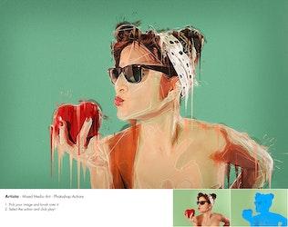 Thumbnail for Artista - Mixed Media Art Photoshop Action