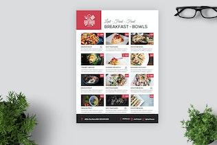 Thumbnail for Minimal Restaurant Cafe Menu / Flyer