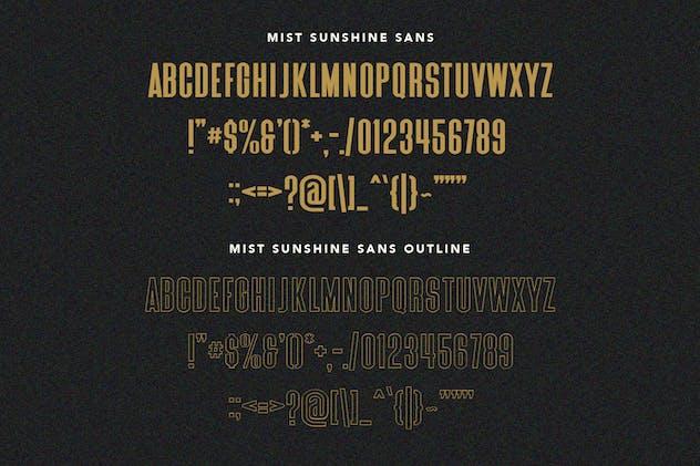 Mist Sunshine Font Bundle - product preview 6