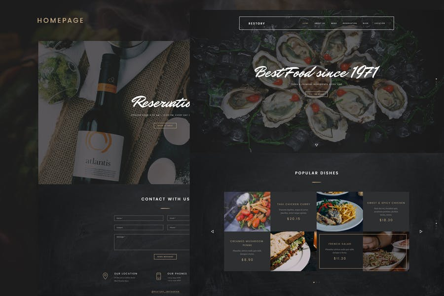 Restory - Restaurant & Cafe Joomla Template - product preview 1