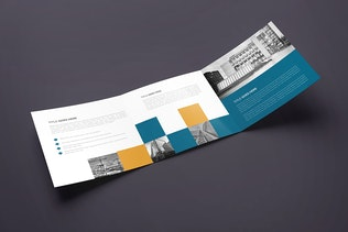 Thumbnail for Square Trifold Brochure 02