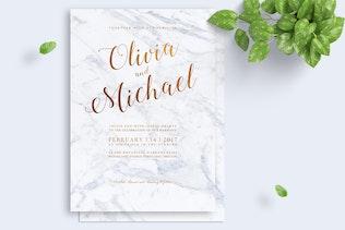Thumbnail for Marbel Wedding Invitation
