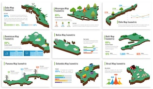 Thumbnail for America Maps Isometric & Legends For Keynote