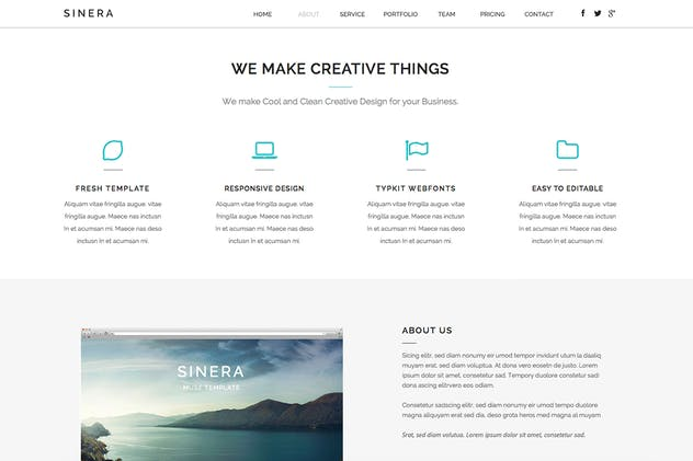 Sinera - Creative Adobe Muse Template - product preview 2