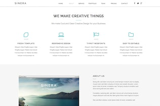 Thumbnail for Sinera - Creative Adobe Muse Template