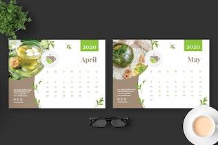 Thumbnail für 2020 Tee Kräutergrün Kalender Pro