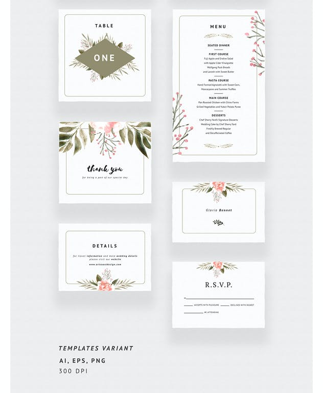 Bronze & Peach Wedding Invitations - product preview 3