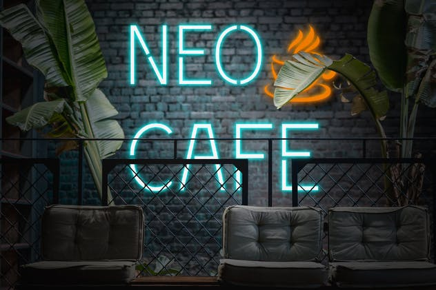 Neomarket - Retro Neon Sign Font - product preview 9