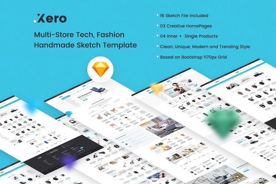 Xero - Multi-Store Tech, Fashion Sketch Template - product preview 1