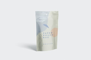 Thumbnail for Paper Pouch Bag Mockup in Small Size