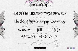 Miniatura para Marbella Tipo de letra