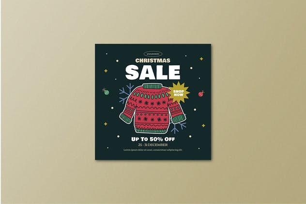 Christmas Sale Flyer Set - product preview 3