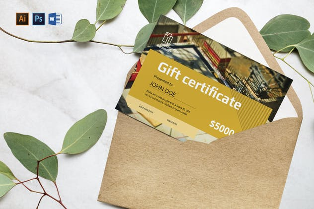 Construction Company Gift Certificate - product preview 1