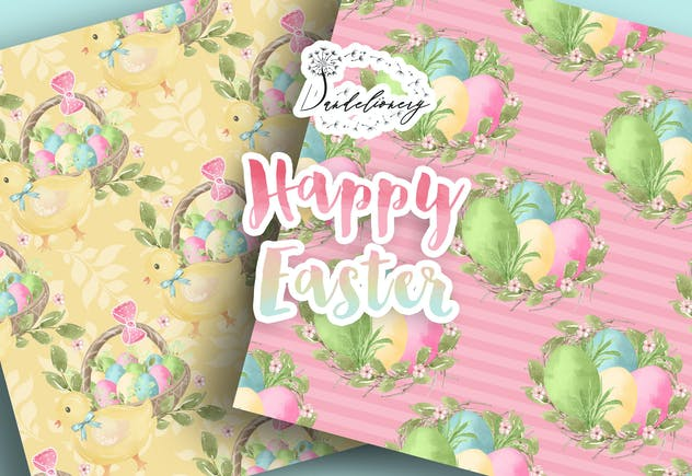 Happy Easter digital paper pack - product preview 2