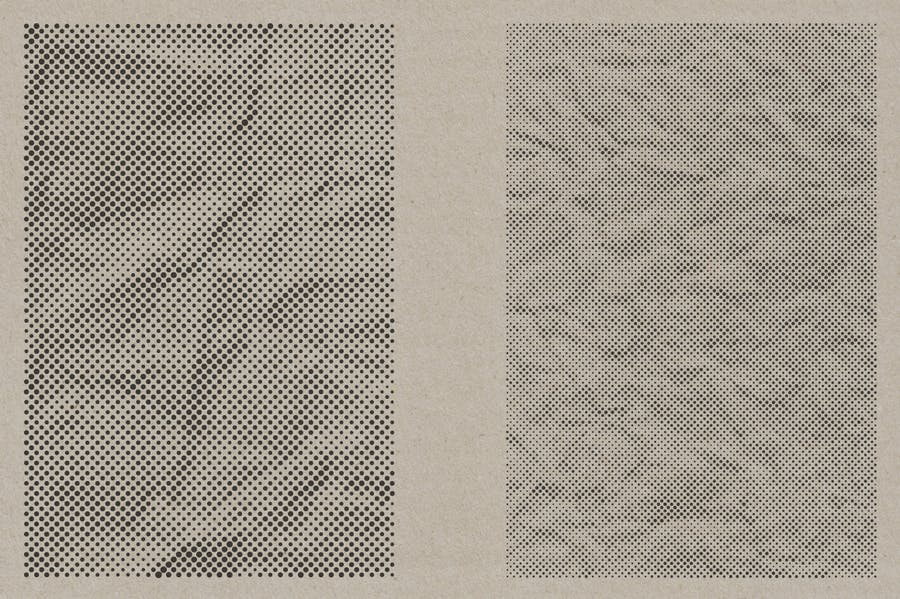 Halftone Vector Paper Textures - product preview 1