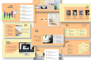 Thumbnail for Rollout Marketing Product Google Slide