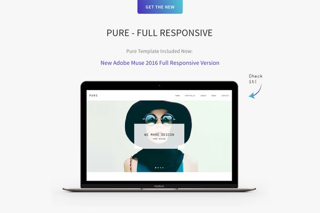 Pure - Responsive Creative Portfolio Muse Template - product preview 1