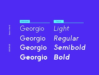 Thumbnail for George Sans Geometric Typeface