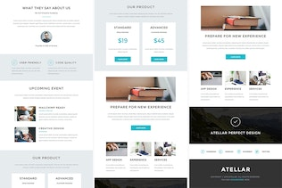 Thumbnail for Atellar - Responsive Email + StampReady Builder