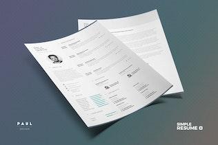 Thumbnail for Simple Resume/Cv Volume 6