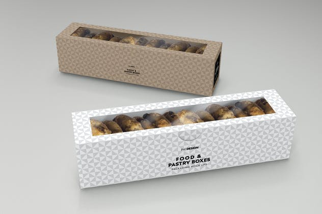 Food Pastry Boxes Vol.2: Packaging Mockups - product preview 10