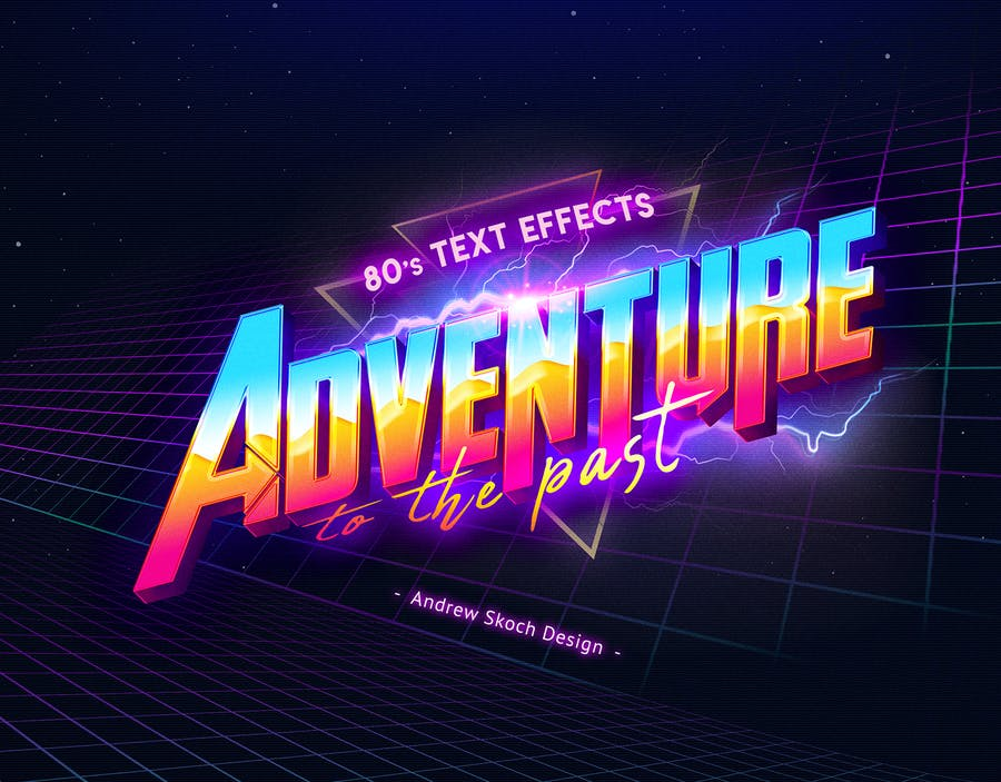 80's Retro Text Effects vol 2 - Design Template Place