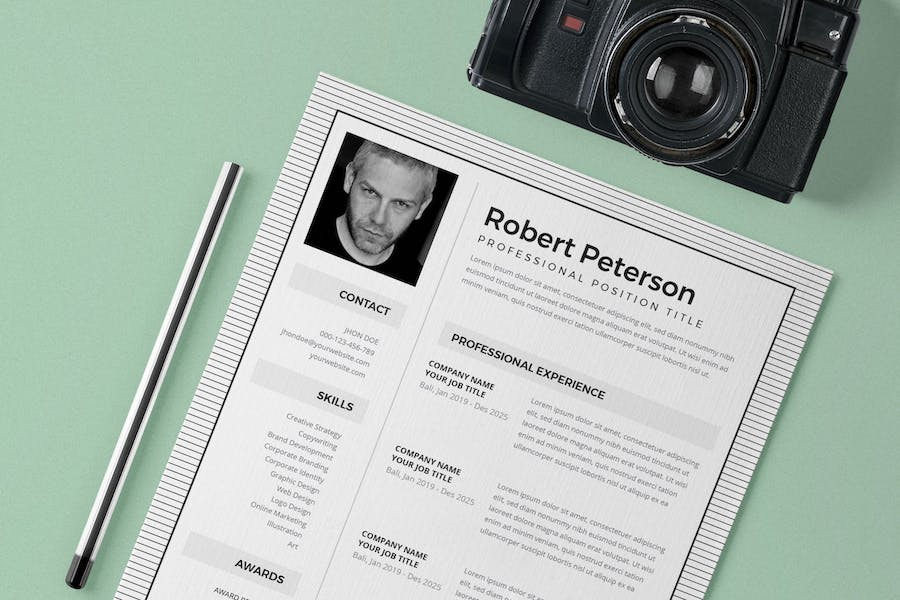 Resume / CV Template Pro - product preview 1
