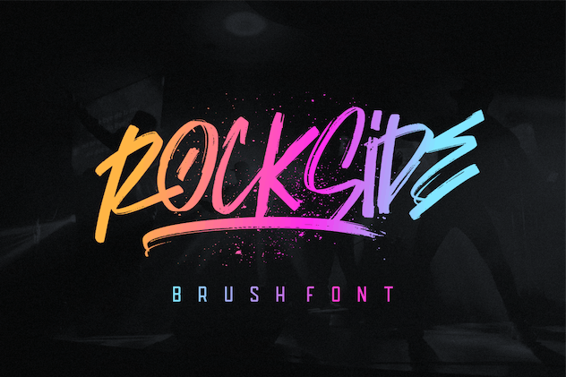 Rockside Brush Font - product preview 1