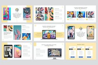 Thumbnail for Visualizm - Pop Art Google Slides Template