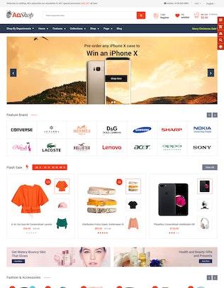 Miniatura para AaShop - Tema Seccionado Bootstrap 4 Shopify