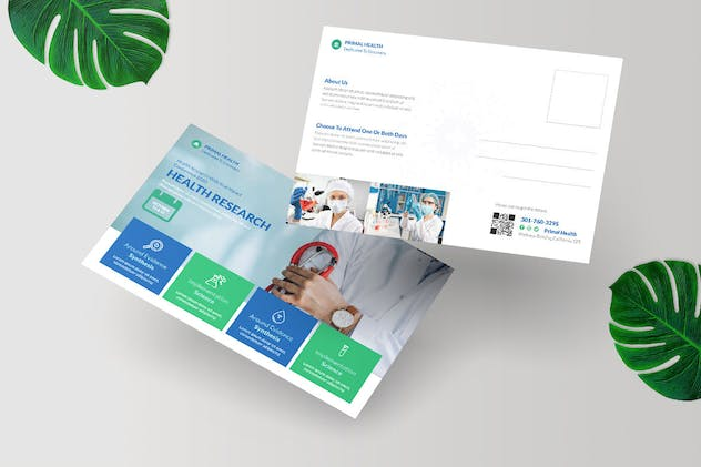 Health Research Postcard Design - product preview 2
