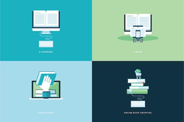 Set of Flat Design Concept Icons