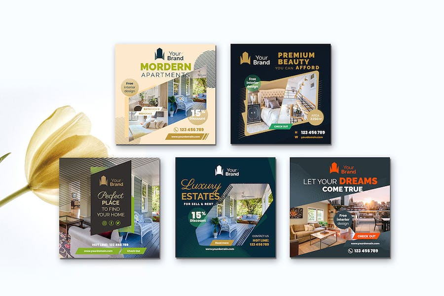 10 Social Media Banners - Real Estate - product preview 5