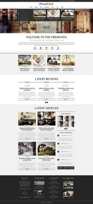 Thumbnail for PressView Vintage and Stylish Magazine Template