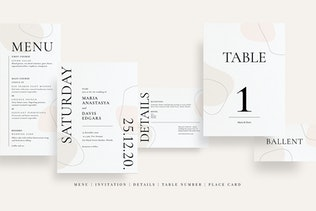Thumbnail for Abstract Line Wedding Set AE