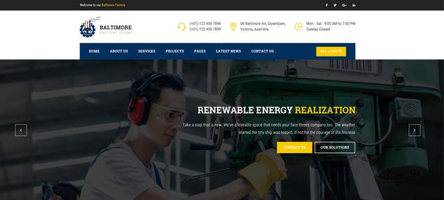 Baltimore : Factory PSD Template - product preview 2