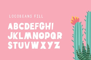 Thumbnail for Locobeans Font Duo