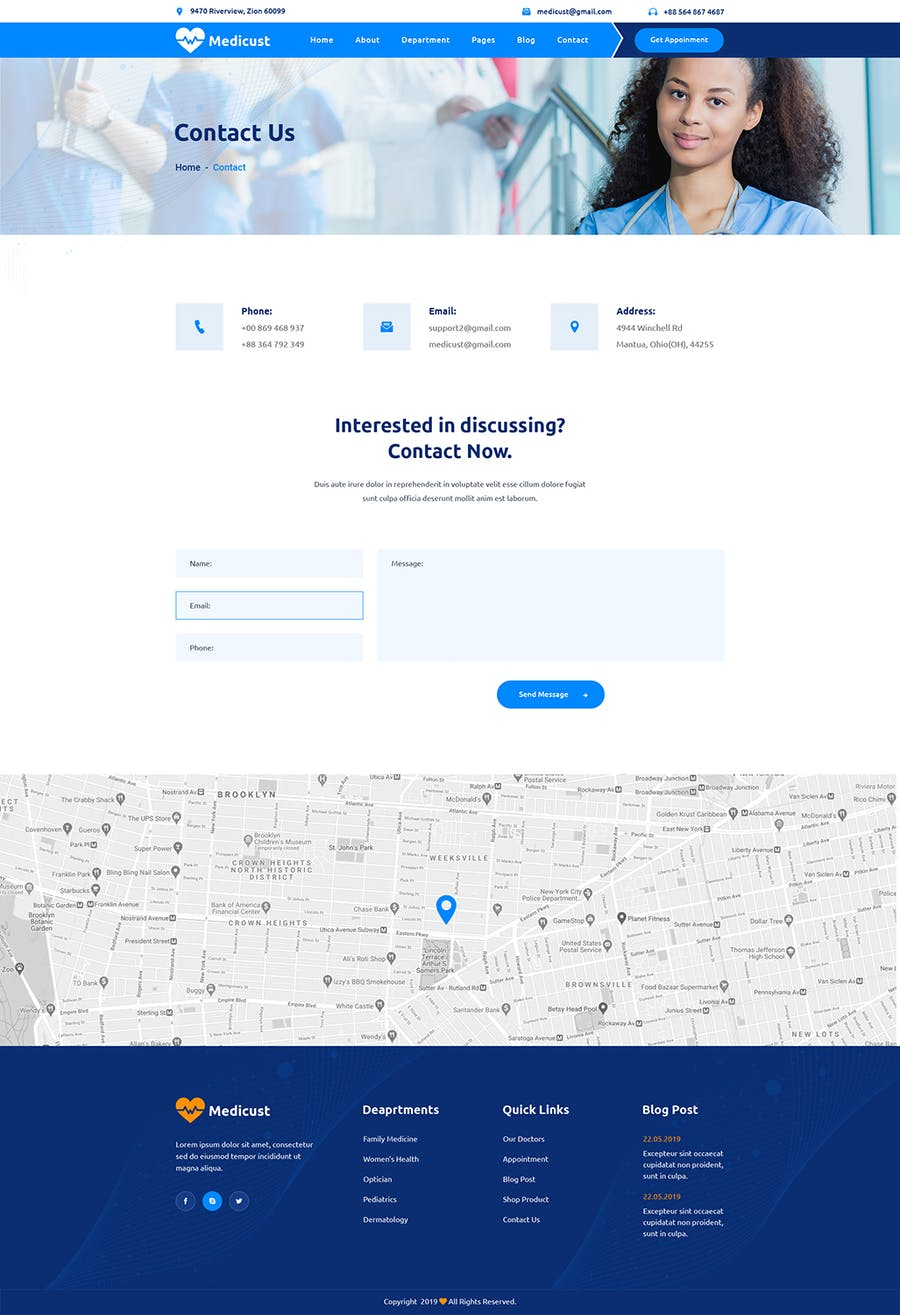 Medicust - Health and Medical HTML5 Template - product preview 1